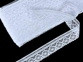 Paličkovaná krajka vzor 75559 bílá | 30 m - 1