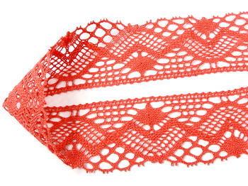 Paličkovaná krajka vzor 75572 korálová | 30 m - 1
