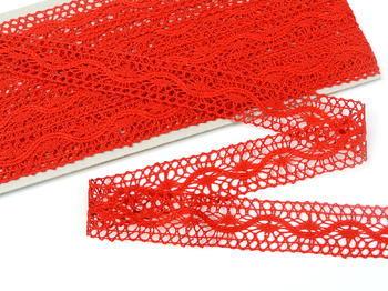 Paličkovaná vsadka vzor 75577 červená | 30 m - 1