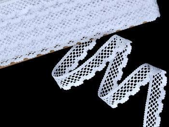 Paličkovaná krajka vzor 75592 bílá | 30 m - 1