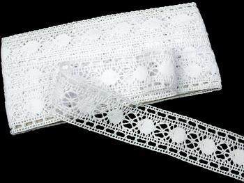 Paličkovaná vsadka vzor 75609 bílá | 30 m - 1
