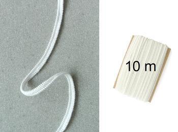 Paličkovaná pruženka roušková 75643 bílá | 10 m - 1