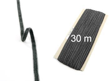 Paličkovaná pruženka roušková 75643 tmavě šedá | 30 m - 1