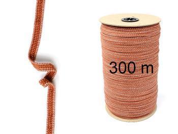 Paličkovaná pruženka roušková 75643 hnědá | 300 m - 1