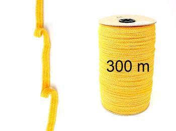 Paličkovaná pruženka roušková 75643 žlutá | 300 m - 1