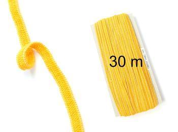 Paličkovaná pruženka roušková 75643 žlutá | 30 m - 1