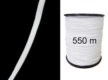 Pletená pruženka roušková 75644 bílá | 550 m - 1