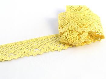 Paličkovaná krajka 75261 bavlněná, šířka40 mm, sv.žlutá - 1