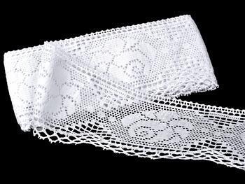 Cotton bobbin lace 75183, width 96 mm, white - 1