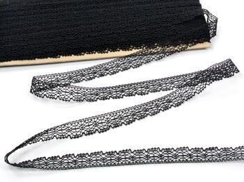 Paličkovaná krajka vzor 81032 černá | 30 m - 1