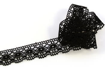 Bobbin lace No.81041 black | 30 m