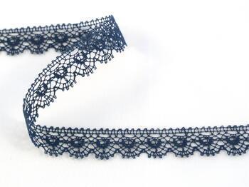 Paličkovaná krajka vzor 81128 mořská modrá | 30 m - 1