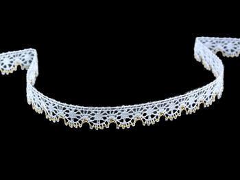 Bobbin lace No.81197 white/gold | 30 m - 1