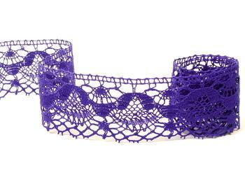 Paličkovaná krajka vzor 81289 purpurová | 30 m - 1