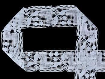 Paličkovaná krajka vzor 81412 bílá | 30 m - 1