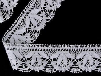 Paličkovaná krajka vzor 81681 bílá | 30 m - 1