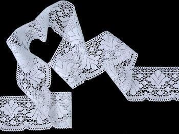 Paličkovaná krajka vzor 82105 bílá   30 m - 1
