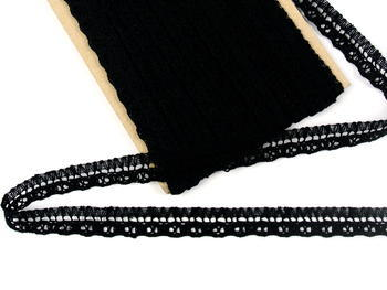 Bobbin lace No. 82184 black | 30 m - 1
