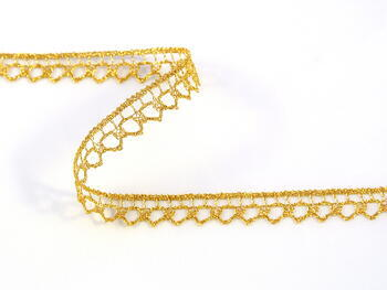 Paličkovaná krajka vzor 82195 zlatá | 30 m