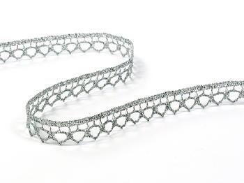Paličkovaná krajka vzor 82195 stříbrná | 30 m - 1