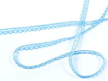 Paličkovaná krajka vzor 82195 bledě modrá | 30 m - 1