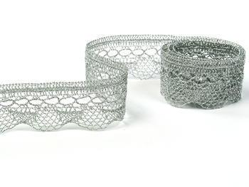 Bobbin lace No. 82216 silver | 30 m - 1