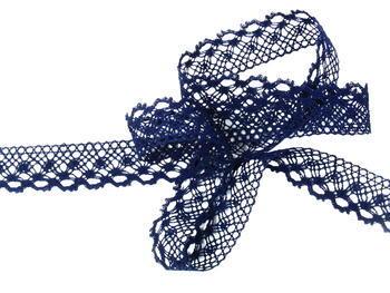 Bobbin lace No. 82222  dark blue | 30 m - 1