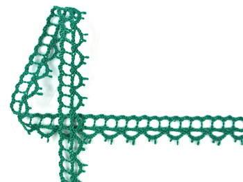 Paličkovaná krajka vzor 82226 světle zelená | 30 m - 1
