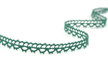 Paličkovaná krajka vzor 82226 tmavě zelená | 30 m - 1
