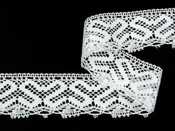 Paličkovaná krajka vzor 82233 bílá | 30 m - 1