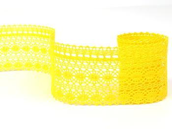 Paličkovaná krajka vzor 82240 žlutá   30 m - 1