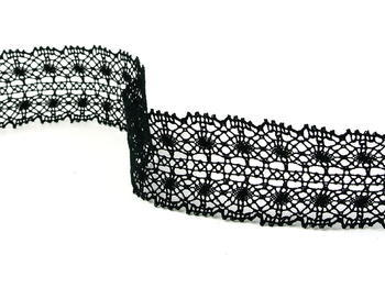 Bobbin lace No.  82309 black | 30 m - 1