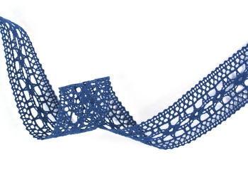 Paličkovaná vsadka vzor 82313 mořská modrá | 30 m - 1