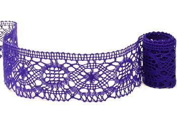Paličkovaná krajka vzor 82339 purpurová | 30 m - 1