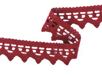 Bobbin lace No. 82341 red bilberry | 30 m - 1