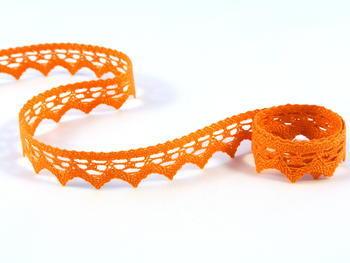 Paličkovaná krajka vzor 82352 sytě oranžová | 30 m