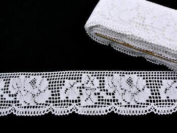 Paličkovaná krajka vzor 88022 bílá | 30 m - 1