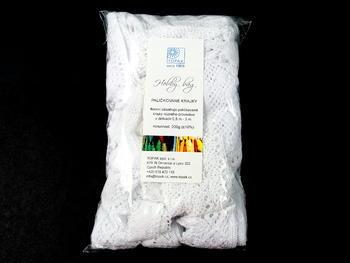 Kreativní balíček - paličkované krajky bílé | 200 g - 1