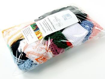 Kreativní balíček - paličkované krajky různé | 200 g - 2