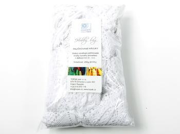 Kreativní balíček - paličkované krajky bílé | 200 g - 2