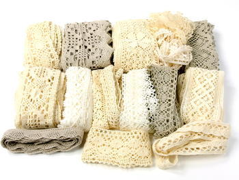 Hobby bag - bobbin laces ecru   200 g - 2