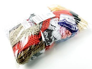 Kreativní balíček - paličkované krajky režné | 500 g - 2