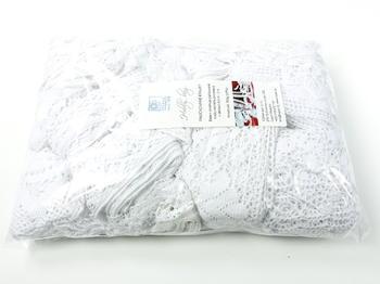 Kreativní balíček - paličkované krajky bílé | 500 g - 2