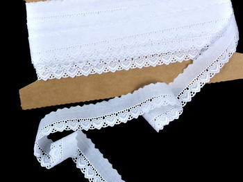 Embroidery lace No. 65093 white | 9,2 m - 2