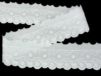 Embroidery lace No. 65118 white | 9,2 m - 2