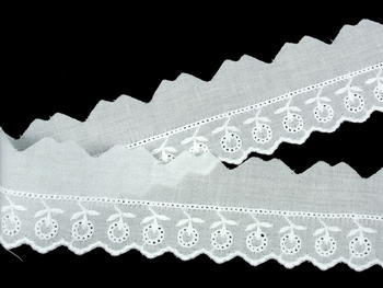 Embroidery lace No. 65122 white | 9,2 m - 2