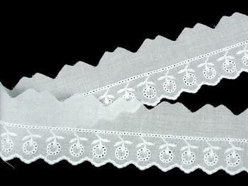 Vyšívaná krajka vzor 65122 bílá | 9,2 m - 2