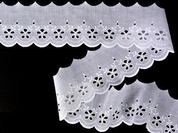 Vyšívaná krajka vzor 65 002 bílá | 9,2 m - 2