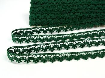 Cotton bobbin lace 73010, width 13 mm, dark green - 2