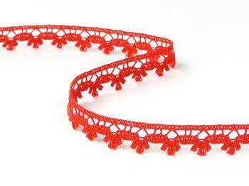 Paličkovaná krajka vzor 73010 červená | 30 m - 2